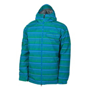 686 Mannual Etch Mens Insulated Snowboard Jacket, Bluebird Stripe, medium