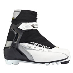 Fischer Control My Style Womens NNN Cross Country Ski Boots, White-Black, 256