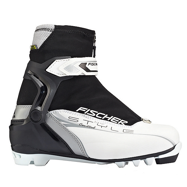 Fischer Control My Style Womens NNN Cross Country Ski Boots, White-Black, 600