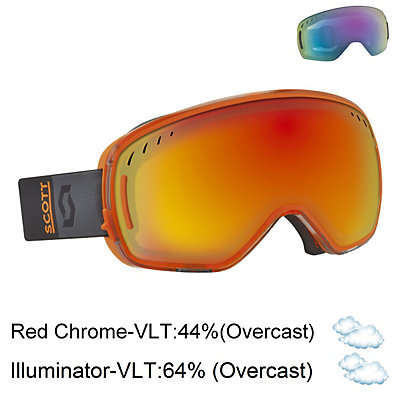 Scott LCG Goggles, Black Orange-Red Chrome + Bonus Lens, viewer