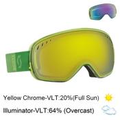 Scott LCG Goggles, Green Yellow-Yellow Chrome + Bonus Lens, medium