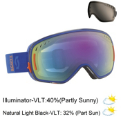 Scott LCG Goggles, Blue Orange-Illuminator 50 + Bonus Lens, medium