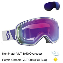 Scott LCG Goggles, White Purple-Purple Chrome + Bonus Lens, 256