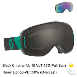 Scott LCG Goggles, Black Green-Black Chrome + Bonus Lens, 256