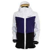 686 Smarty Command Womens Insulated Snowboard Jacket, White Colorblock, medium