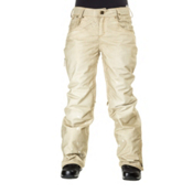 686 Reserved Destructed Denim Womens Snowboard Pants, Khaki, medium