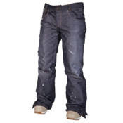 686 Reserved Destructed Denim Womens Snowboard Pants, Black, medium