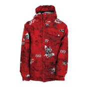 686 Mannual Chipped Boys Snowboard Jacket, Red, medium