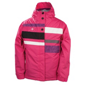 686 Mannual Anna Girls Snowboard Jacket, Rasberry Colorblock, medium