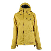 Volcom Yoho Womens Shell Snowboard Jacket, Bronze, medium