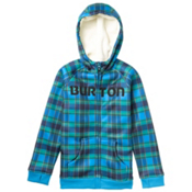 Burton Bonded Kids Hoodie, Blue Ray Switch Plaid, medium