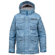 Burton TWC Cannon Boys Snowboard Jacket, Riptide Burnout Stripe, medium