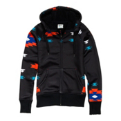 Roxy Easy Rider Womens Hoodie, Black Navajo Stripe, medium