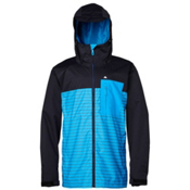 Quiksilver Show All Mens Shell Snowboard Jacket, Anthracite, medium