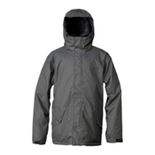 Quiksilver Harvey Mens Insulated Snowboard Jacket, Dark Shadow, medium