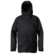 Quiksilver Harvey Mens Insulated Snowboard Jacket, Anthracite, medium