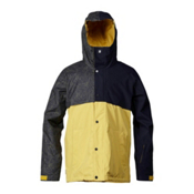 Quiksilver Decade Mens Insulated Snowboard Jacket, Big Dither, medium