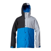 Quiksilver Decade Mens Insulated Snowboard Jacket, Dark Shadow, medium