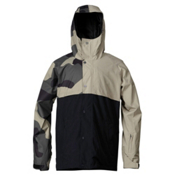 Quiksilver Decade Mens Insulated Snowboard Jacket, Macroflague Army-Slate Green, medium