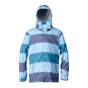 Quiksilver Mission Mens Insulated Snowboard Jacket, Indigo Stripe, medium
