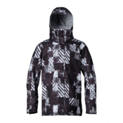 Quiksilver Mission Mens Insulated Snowboard Jacket, Atom Black, medium