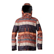 Quiksilver Mission Mens Insulated Snowboard Jacket, Wood World, medium