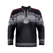 Dale Of Norway Anniversary Mens Sweater, Black-Offwhite-Rasberry, medium
