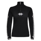 Dale Of Norway Geilo Womens Sweater, Black-Offwhite, medium