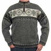 Dale Of Norway Blyfjell Mens Sweater, Smoke-Dark Charcoal-Off White, medium