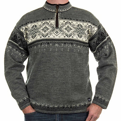 Dale Of Norway Blyfjell Mens Sweater, Smoke-Dark Charcoal-Off White, viewer