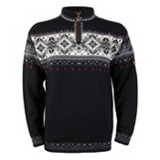Dale Of Norway Blyfjell Mens Sweater, Black-Off White-Smoke-Raspberr, medium