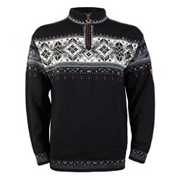 Dale Of Norway Blyfjell Mens Sweater, Black-Off White-Smoke-Raspberr, 256