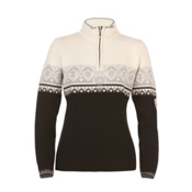 Dale Of Norway St. Moritz Womens Sweater, Black-Metal Gray-Off White, medium
