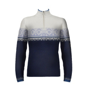 Dale Of Norway St. Moritz Womens Sweater, Nacht-Victoria Blue-Offwhite, medium