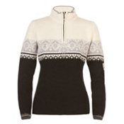 Dale Of Norway St. Moritz Feminine Womens Sweater, Black-Metal Gray-Off White, medium