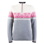 Dale Of Norway St. Moritz Feminine Womens Sweater, Grey Melange-Schiefer-Off Whit, medium