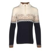 Dale Of Norway St. Moritz Feminine Womens Sweater, Navy-Off White-Bronze Melange-, medium