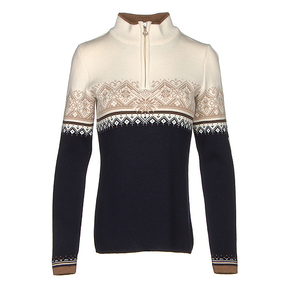 Dale Of Norway St. Moritz Feminine Womens Sweater, Navy-Off White-Bronze Melange-, 600