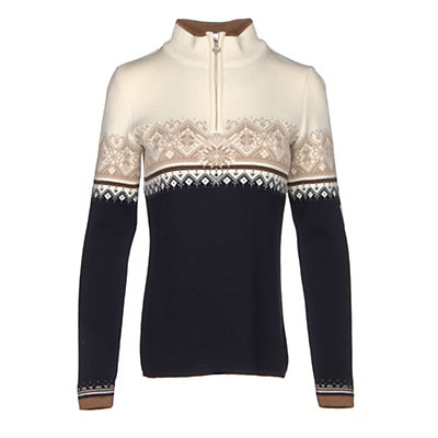 Dale Of Norway St. Moritz Feminine Womens Sweater, Black-Metal Gray-Off White, viewer