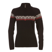 Dale Of Norway Calgary Feminine Womens Sweater, Black-Raspberry-Offwhite, medium