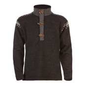 Dale Of Norway Finnskogen Windproof Mens Sweater, Dark Charcoal-Smoke-Off White, medium