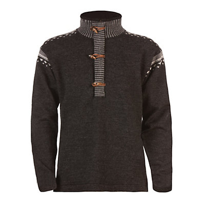 Dale Of Norway Finnskogen Windproof Mens Sweater, Dark Charcoal-Smoke-Off White, large