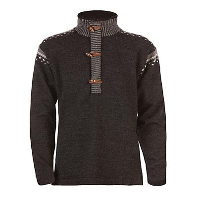 Dale Of Norway Finnskogen Windproof Mens Sweater, Dark Charcoal-Smoke-Off White, viewer