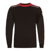 Dale Of Norway Rodkleiva Mens Sweater, Black-Rasberry-Offwhite, medium