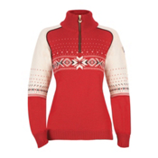 Dale Of Norway Kuppern Womens Sweater, Raspberry-Navy-Offwhite, medium