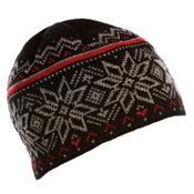 Dale Of Norway Holmenkollen Hat, Black-Smoke-Red Rose, medium