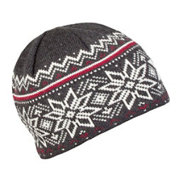 Dale Of Norway Holmenkollen Hat, Dark Charcoal-Off White-Red Ro, 256
