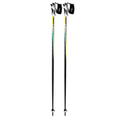 Leki Spark Trigger S Ski Poles, Neon Yellow Black Cyan, medium
