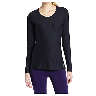 Snow Angel Doeskin Scoop Neck Top Womens Long Underwear Top, Black, viewer