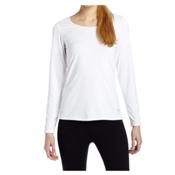 Snow Angel Doeskin Scoop Neck Top Womens Long Underwear Top, White, medium